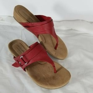Comfort Plus by Predictions Womens  Red Sandal